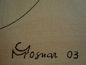 Firma dell'artista
