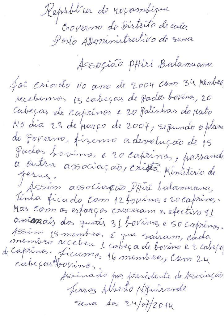 Lettera allevatori Sena
